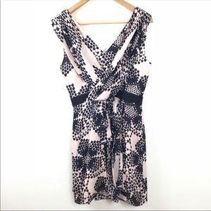 TIBI Light Pink Filigree Print Silk Dress 0